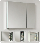 "Bathroom Medicine Cabinet w/ Mirrors 30""W"