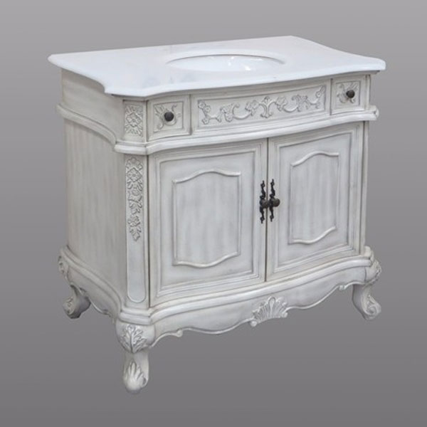 Inch Regal Antique Bathroom Vanity BXAG - 36 inch grey bathroom vanity