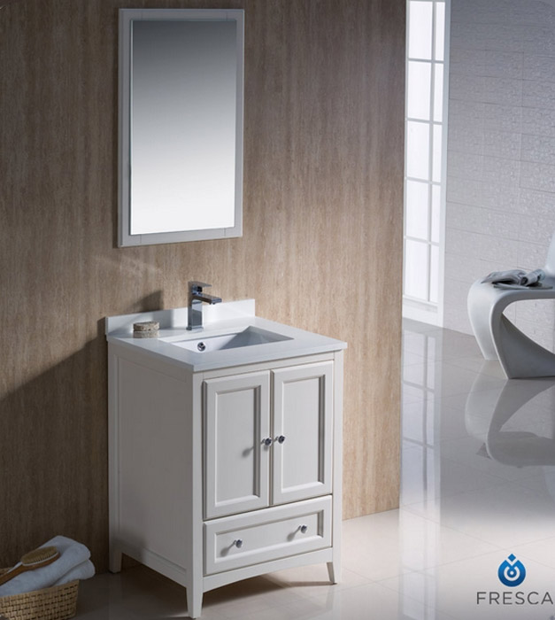 24 Inch Fresca Oxford Bathroom Vanity Fvn2024aw
