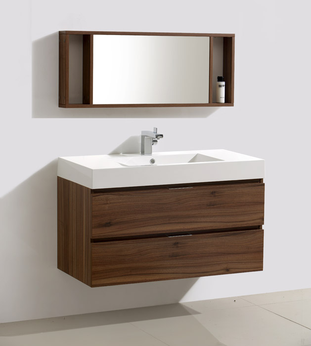 39 inch wall mounted modern bathroom vanity mv317000c for Bathroom vanities uk