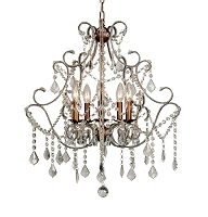 5 Light Crystal Chandelier 22
