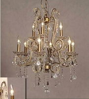 9 Light Crystal Chandelier - 24