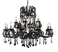 18 Light Black Chandelier 39