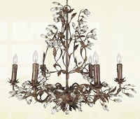 6 light Chandelier 25