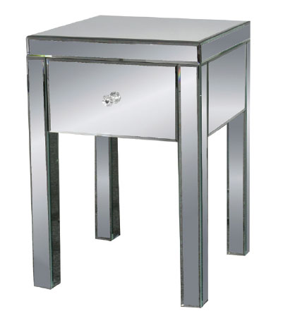 Mirrored Nightstand Canada : Home > Mirrored Furniture > Mirrored End Table / Nightstand 18