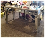 "Mirrored Desk / Table Console 48""x29""H"