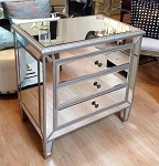 "Mirrored Chest / Side Table 28""x30""H"