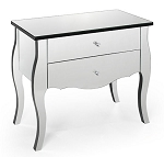 "Mirrored Accent / Side Table 30""x28""H"