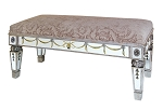 "Mirrored Gilded Double Bench 36""x18""H"
