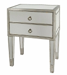 "Mirrored Side Table / Nightstand 22""x30""H"