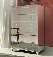 "Mirrored Tall Chest 46""x57""H"