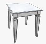 "Mirrored Side Table 22""x27""H"