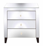 "Mirrored Nightstand Side Table 24""x27""H"