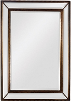 Mirror with Mirrored Frame in antique Gold, 40