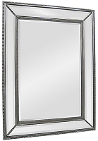 Mirror with Mirrored Frame in Antique Silver 40