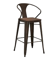 Industrial Bar and Counter Stool - Available in Black or Copper Finish