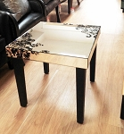 "Mirrored Side Table 19""x21.50""H"