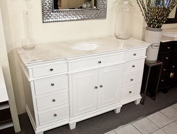"Bathroom Vanity 60""W Single Sink"