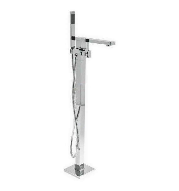 Tirana Floor Mounted Bathtub Faucet - Chrome