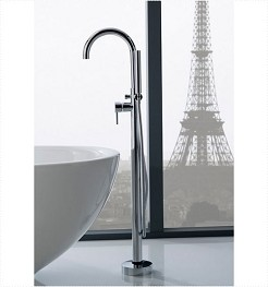 Floor Mounted Bathtub Faucet - Chrome
