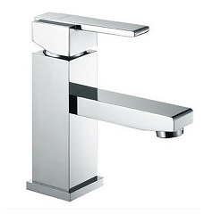 Quadro Single Lever Chrome Vanity Faucet 5.7