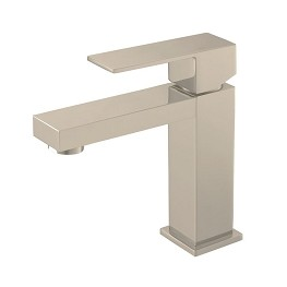 Single Lever Brushed Nickel Vanity Faucet 5.7