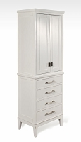 White Bathroom Linen Tower / Cabinet 24