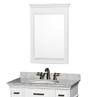White Bathroom Vanity Mirror 24