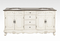 Double Sink Bathroom Vanity 72