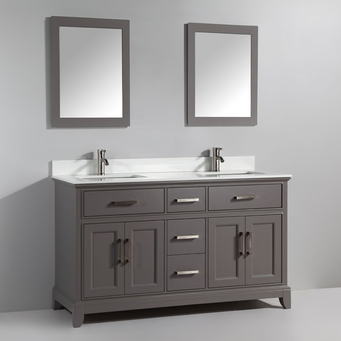 Tremendous 72 Alina Grey Double Sink Bathroom Vanity Home Interior And Landscaping Ologienasavecom