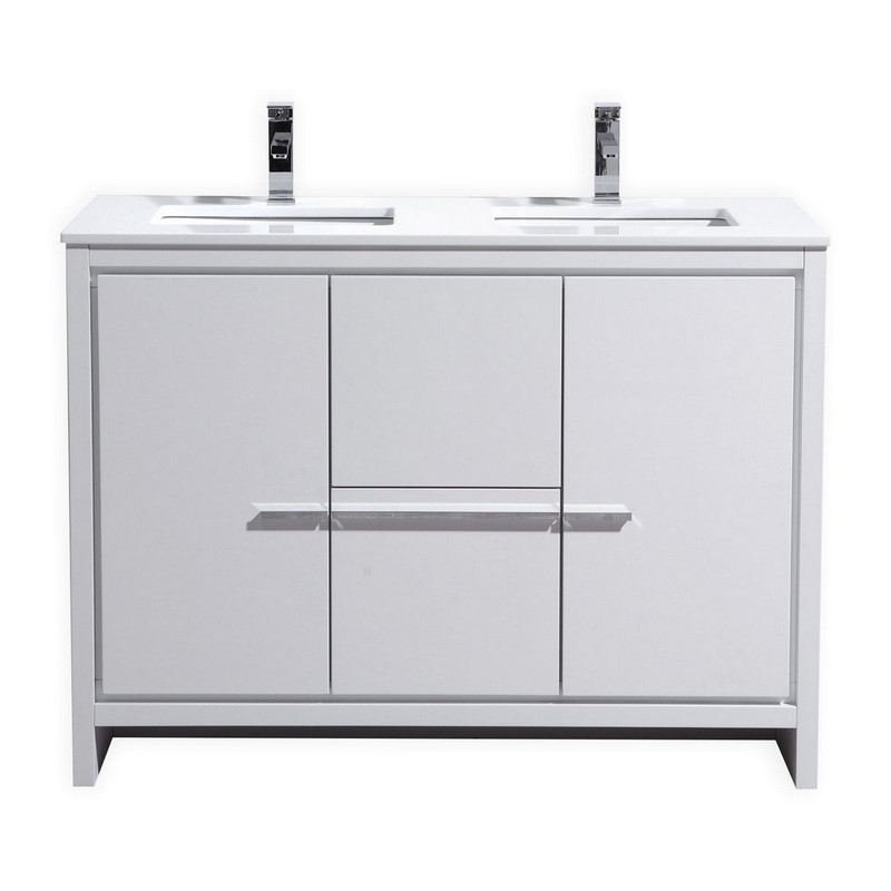 Astounding 48 Adriano Double Sink Vanity Available In Other Finishes Download Free Architecture Designs Ferenbritishbridgeorg