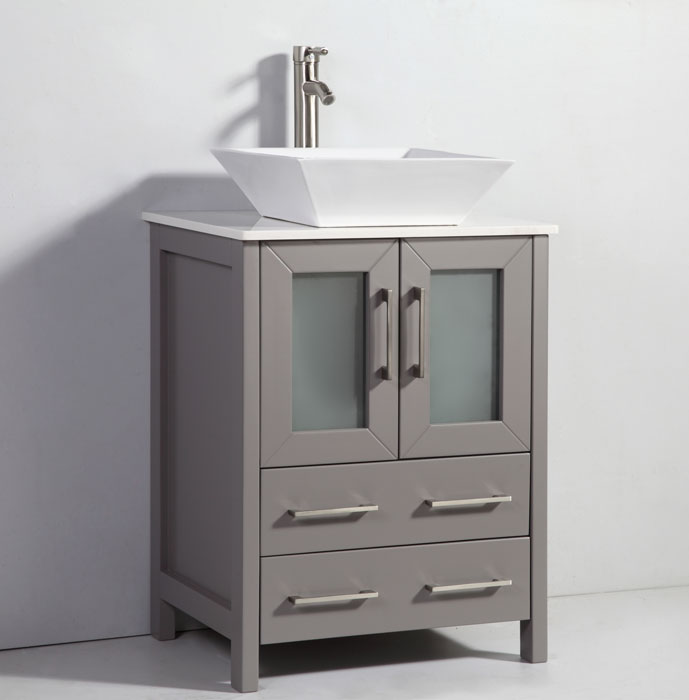 Sensational 24 Havana Bathroom Vanity With Vessel Sink Available In Grey White And Dark Espresso Download Free Architecture Designs Ogrambritishbridgeorg