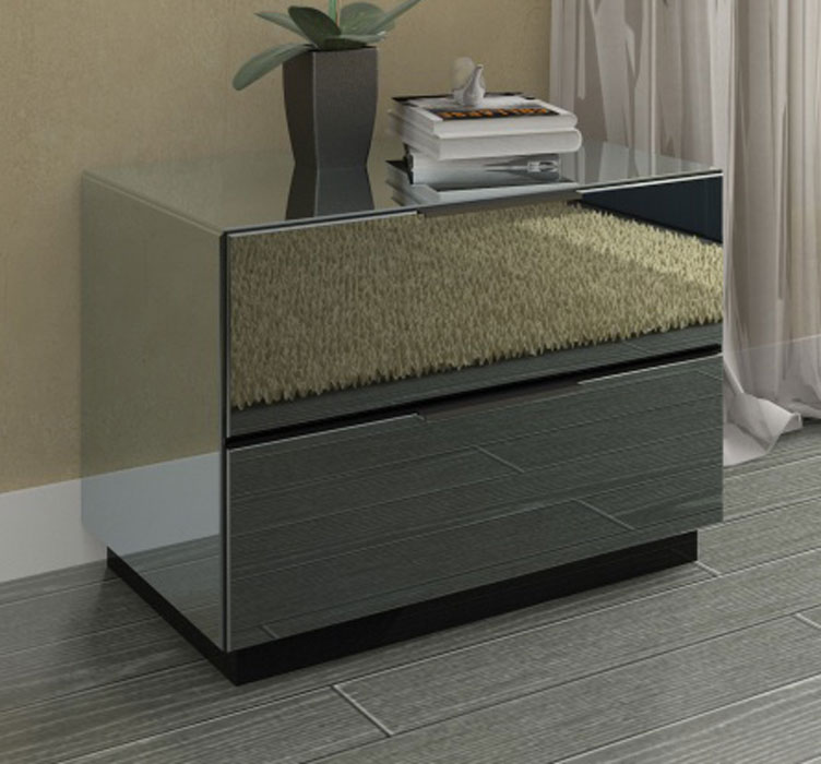 Mirrored Nightstand / Side Table 25