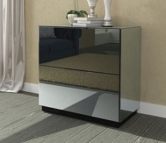 Mirrored Nightstand / Side Table 30