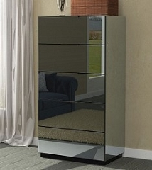 Mirrored Tall Chest 32
