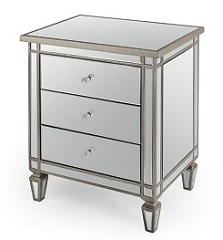 Mirrored Side Table 24