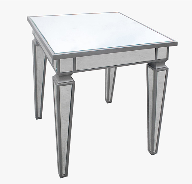 Mirrored Side Table 22