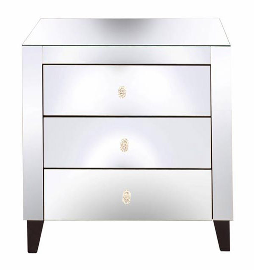 Mirrored Nightstand Table Tmf628093s, Used Mirrored Tables
