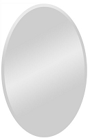 Frameless Oval Mirror 24