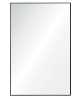 Charcoal Grey Metal Frame Mirror 21