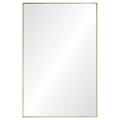 Metal Gold Leaf Frame Mirror 21