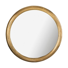 Round Metal Mirror in Brass Finish 34