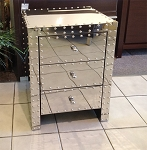 Steel Side Table Studded 18