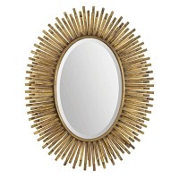 Oval Antique Gold Leaf  Mirror
