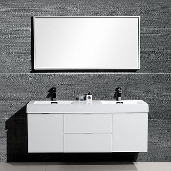 "60"" Drake Double Sink Bathroom Vanity - Available in other Finishes"