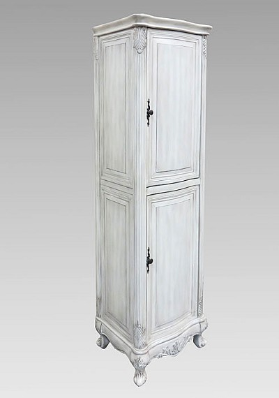 Antique Grey Linen Cabinet  21