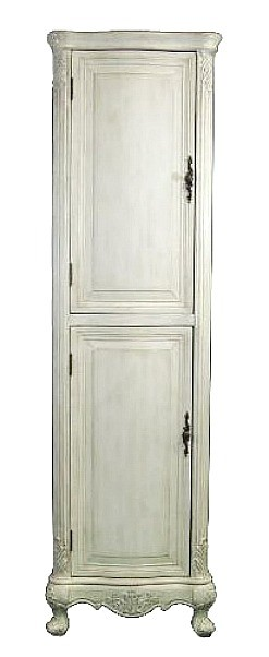 Antique White Linen Cabinet  21