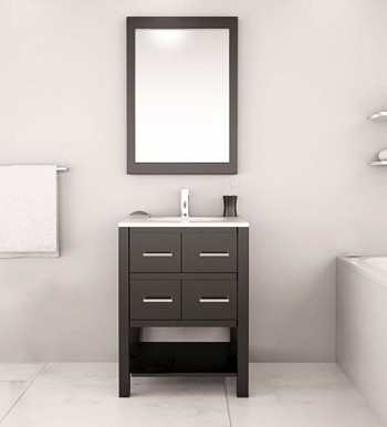 "24"" Olsen Bathroom Vanity, Available in Dark Espresso and White"