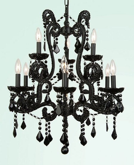 Black Crystal Chandelier 24