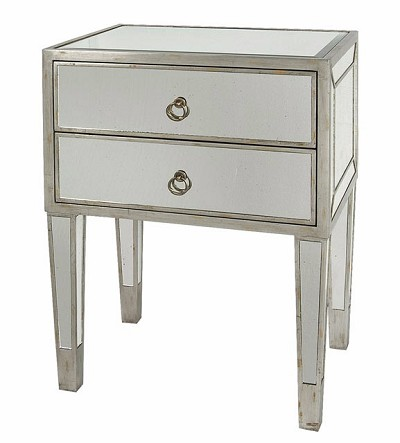 Mirrored Side Table / Nightstand 22